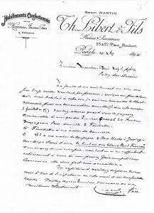 Commande annuelle 1896-1