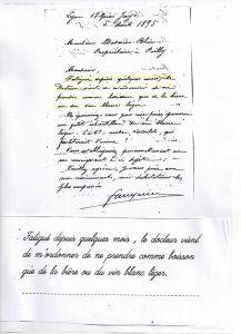 Commande de 1895 ordre docteur