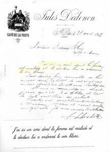 Commande de 1897 femme malade