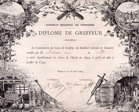 Diplome Louis Mosnier 1893 couleur 700x963